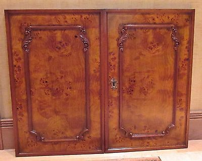 Vintage (1Pair only)- Finest Italian Imported- BURLWOOD CABINET DOOR PANELS- NOS