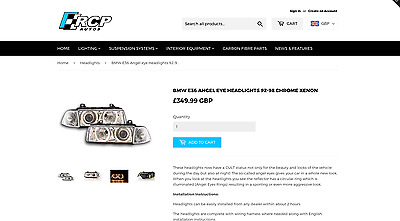 RCP Autos Website Business Car Parts & Tuning - Making (£400+ Per Month)