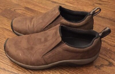 Men's Merrell Coffee Brown Leather Slip-on Loafers Size 10.5