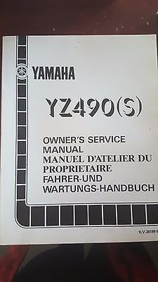 YZ490S Yamaha off road bike 1985 factory owners service manual p/n 1LV-28199-80