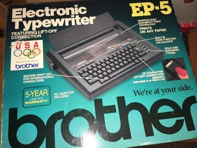 Brother EP-5 EP5 Electronic Typewriter With Cover Very Portable