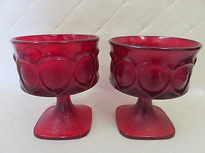 Vintage Ruby Red Glass Goblets Carnival AVON? 8 available