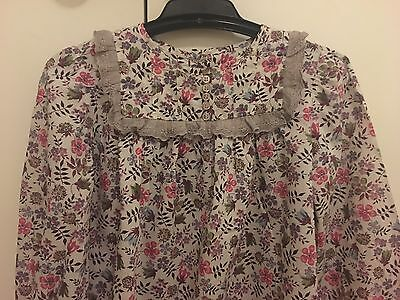 Girls Marie Chantal Long Sleeve Cotton Top SIZE 8 Years  LIKE NEW