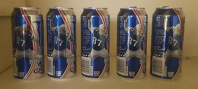 Rob Gronkowski Limited Edition Monster  Energy Drink Cans, Lot Of 5, New England