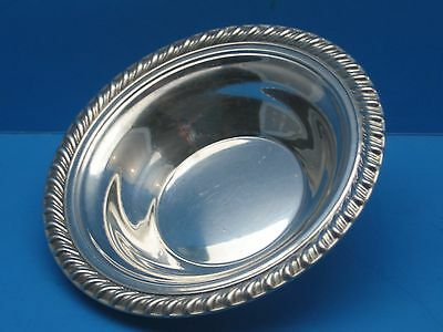 """Vintage Wm. ROGERS No. 848 Silver Plated Bowl 6-1/2"""" Round with Rope Design Edge"""