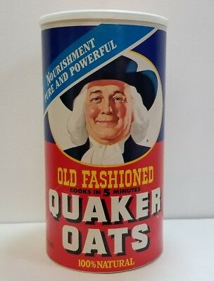 VINTAGE QUAKER OATS CARD BOARD CONTAINER CAN 2lb 10oz CONTAINER, 1992