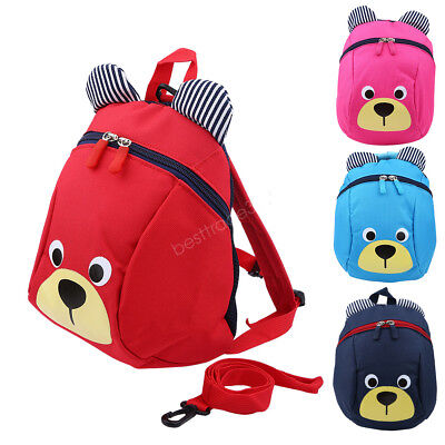 New Kids Toddler Walking Safety Harness Strap Anti-lost Leash Cartoon Backpacks