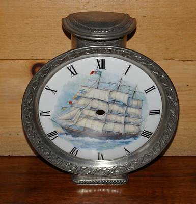 Limoges France Ceramic and Pewter Clock Dial/Face