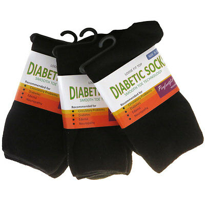 """3 Pairs""  85% Bamboo ""Unisex"" Diabetic Socks / Comfort Socks  - Loose Fit Top"