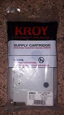 "Kroy DuraType 240 Series Cartridge Labeling 5""x 50"" Blue/White"