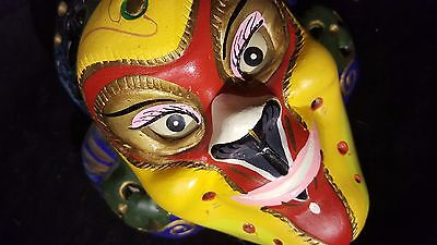 Vintage Asian Japanese Chinese decorative colorful wall mask?
