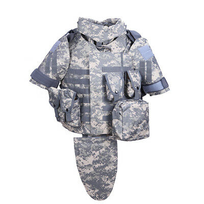 Tactical Combat Military Airsoft Vest Paintball MOLLE Plate Carrier Mag Pouch