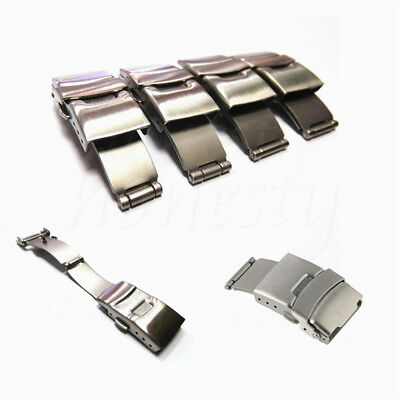 18/20/22/24mm Stainless Steel Butterfly Deployment Clasp Buckle Watch Strap Band