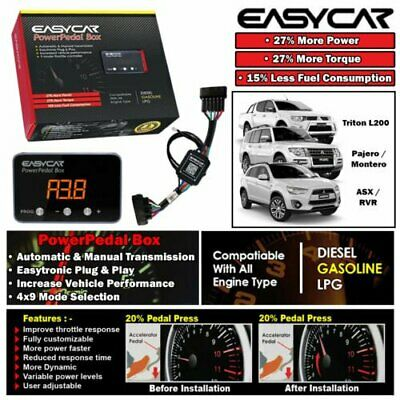 EASYCAR Power Pedal Box Throttle Controller For Mitsubishi Pajero NS NT NW 06-ON
