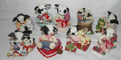 ENESCO Mary's MOO MOOs Collection BOX LOT OF 9 Pieces KINDLESS LOVE FRIENDS +++