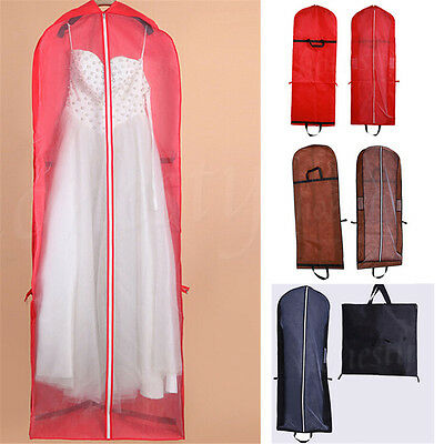 Foldable Wedding Long Dress Suit Gown Garment 155cm Storage Bag Protector Cover