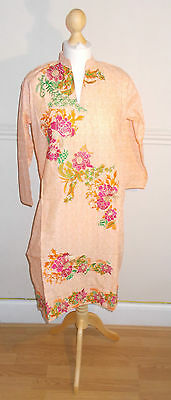 Ladies/ Women/ Girl's Pakistani/Indian Embroided Kurta/Kurti/ Peach Color