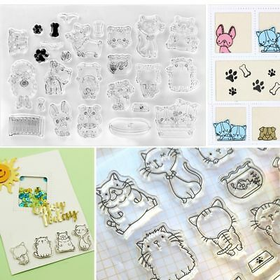 Rose Pet DIY Scrapbooking Silicone Transparent Clear Stamp for  Decorative Gift