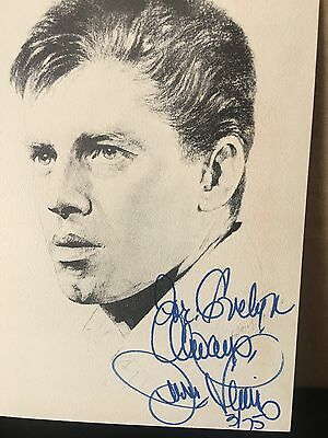 Jerry Lewis Signed 5 1/2x7 1/2 Photo/Drawing -COA!