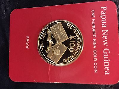 PNG Gold Coin 1984 Proof.