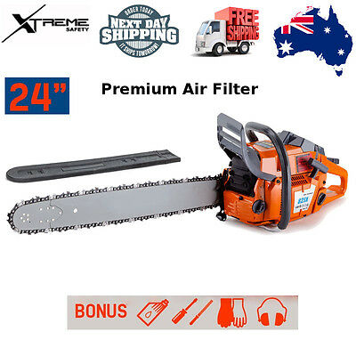MTM Balanced Design 82cc A-VIBE Wood Cutting Commercial Petrol Chainsaw - 82SX