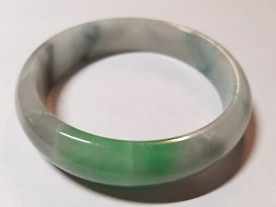 AAA Jade Bangle Bracelet Antique Jadeite Clouds and Flowers No Reserve Natural
