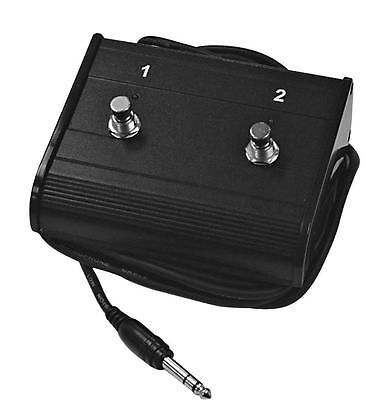 Carson Fs25 - On/Off Dual Amp Footswitch With 2 Leds. Suits Many Amplifiers