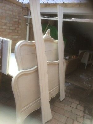 French Louis Xv A Shabby Chic Oak Bed Annie Sloan Old White