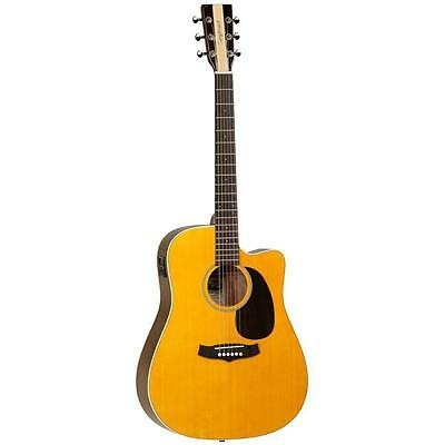 Tanglewood Nashville Dreadnought Acoustic Electric Guitar, Natural, save $100