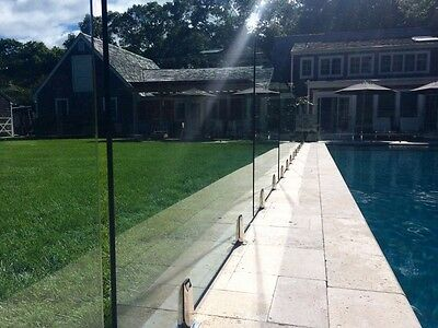 Glass Pool Fencing - Glass Balustrade - Pool Fencing - 12mm - Spigots - Frosted