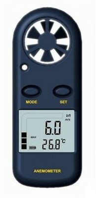 Handheld Anemometer Wind Speed Meter Lanyard Carry Case Pocket Sized Perfect
