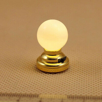 1:12 Dollhouse Battery-Operated Powered Mini LED Circular Ceiling Lamp 2cm*2.8cm