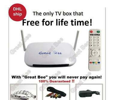 2017 Great Bee Arabic TV box support 400 Arabic Channels FREE FOR LIFE  DHL ship