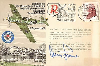 WW2 Luftwaffe Battle of Britain ace GALLAND signed ME-109 cover