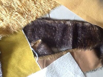6  Pieces Of Mohair - Various Colours And Sizes