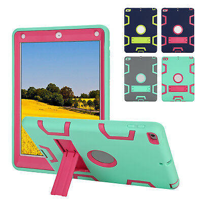 "For New iPad 9.7"" 2017 5th Generation Shockproof Defender Armor Stand Case Cover"