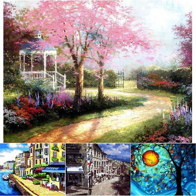 UK Paint By Number Kit Digital Oil Painting Canvas Scenery Scape Landscape Trees