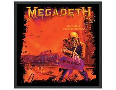 Official Licensed - Megadeth - Peace Sells Embroidered Woven Patch Metal
