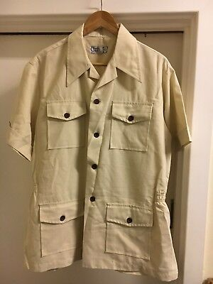 Vintage Safari Shirt Jacket Country Club Size 43-44