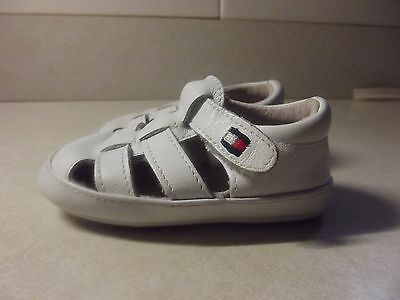 Baby Tommy Hilfiger Lil Bryce Shoes Size 2 months - White Leather