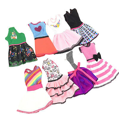 Beautiful Handmade Fashion Clothes Dress for Barbie Doll Cute Lovely Kids Gift