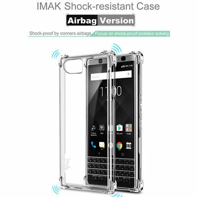 Shockproof Case+Explosion-Proof Film For BlackBerry KEYone Imak Soft TPU Airbag