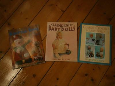 3 beautiful Doll's and Toys knitting books