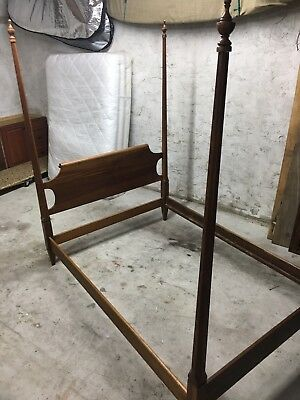 *Must Sell* Antique Vintage Statton Trutype Americana Canopy Bed -Full