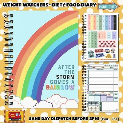 FOOD DIARY TRACKER/ 3MTH WEIGHT WATCHERS DIET PLAN BOOK LOG JOURNAL *If You Try*