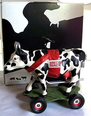 Cow Parade 'Buckle-Up Betsy' Retired Figurine By Westland Giftware NIB