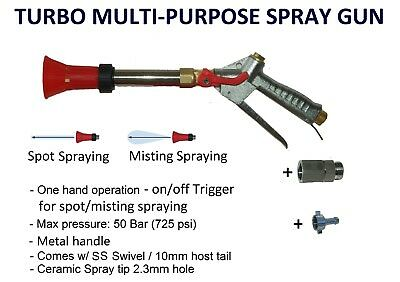 TURBO MULTI PURPOSE 400mm SPRAY GUN WEED SPRAYER SPOT MIST ADJUSTABLE SPRAYING