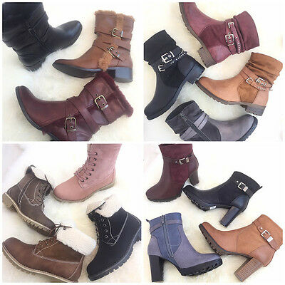 Wholesale Job Lot Ladies Women Shoes Ankle Boots Large Variety 1 Box of 12 pairs
