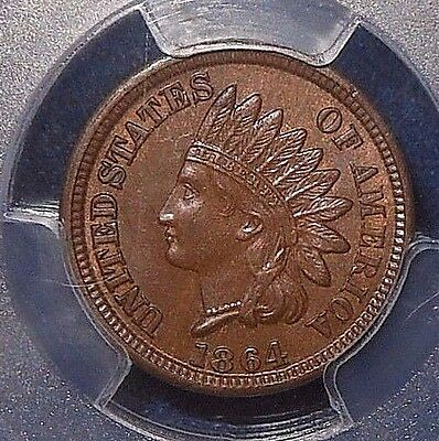 1864 1C BRONZE Indian Cent PCGS MS63BN ~CAPTIVATING, EVEN COLOR~