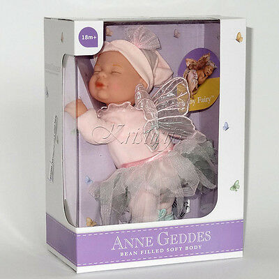 ANNE GEDDES DOLL 'Bean Filled' collection NEW in a Gift Box BABY FAIRY DOLL 9''